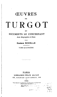 uvres de Turgot Et Documents Le Concernant PDF