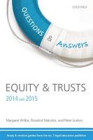 Equity and Trusts 2014 and 2015 PDF