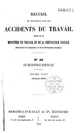 Recueil de documents sur les accidents du travail