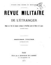 Revue militarie de l'étranger: Volume7