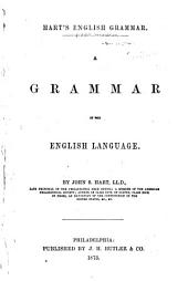Hart's English Grammar: A Grammar of the English Language