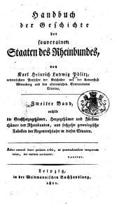Handbuch der Geschichte der souverainen Staaten des Rheinbundes: Band 2