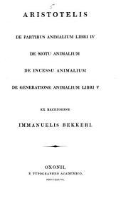 Aristotelis Opera: Τόμος 5