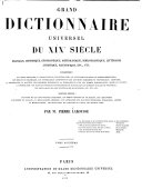 Download Grand Dictionnaire Universel  du XIXe Siecle  Francais  A Z 1805 76 Book