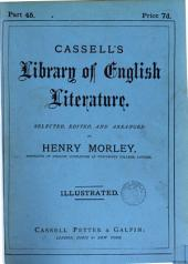 Cassell's library of English literature, selected, ed. and arranged by H. Morley: Volume 3