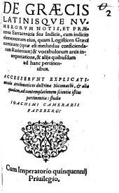 De graecis latinisque Numerorum Notis