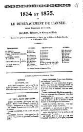 1834 et 1835 ou le déménagement de l'année: revue épisodique en 1 act