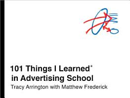 101 Things I Learned   in Advertising School PDF
