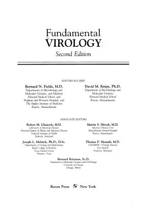 Fundamental Virology PDF