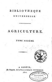 Bibliothèque universelle des sciences, belles-lettres et arts: Volume6