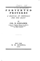 Perverted Proverbs: A Manual of Immorals for the Many