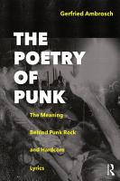 The Poetry of Punk PDF