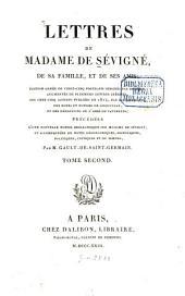 Lettres de madame de Sévigné, de sa famille, et de ses amis: Volume2