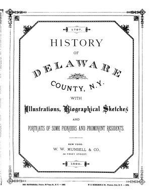 History of Delaware County  N  Y  PDF