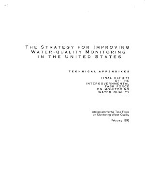 The Strategy for Improving Water quality Monitoring in the United States PDF
