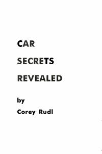 Car Secrets Revealed