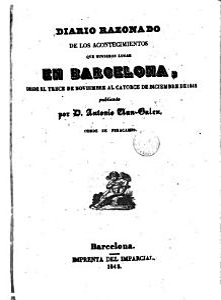 Diario razonado de los acontecimientos que tuvieron lugar en Barcelona  desde el trece de noviembre al catorce de diciembre de 1842 PDF
