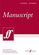 24-page A5 Manuscript Book, 6-stave Wide-spaced