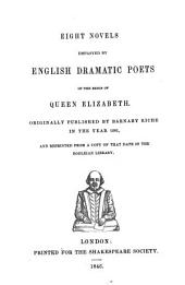 Early Prose and Poetical Tracts: Illustrative of the Drama and Literature of the Reign of Queen Elizabeth