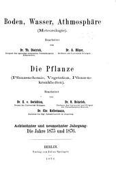 Jahresbericht über die Fortschritte auf dem Gesamtgebiete der Agrikultur-Chemie: Bände 18-19