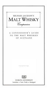 Michael Jackson s Malt Whisky Companion Book