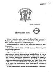 Instruction pastorale de S. Em. Mgr le Cardinal-Archevêque de Lyon et de Vienne, à l'occasion du Carême de 1853. La religion doit régler et sanctifier l'industrie