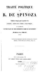Traité politique de B. de Spinoza