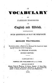 A vocabulary of familiar dialogues in English and Welsh