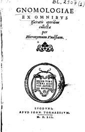 Gnomologiae ex omnibus Isocratis operibus collectae