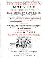 Dictionaire nouveau françois, latin