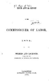 Annual Report of the Commissioner of Labor: Volume 10, Part 2