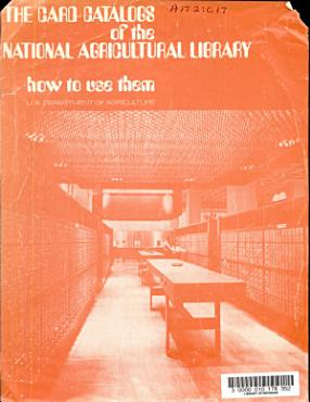 The Card Catalogs of the National Agricultural Library PDF