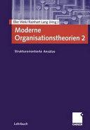 Moderne Organisationstheorien 2 PDF