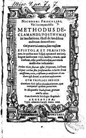 Nicodemi Frischlini ... Methodus declamandi posthuma, in laudatione, thesi de laudibus mulierum demonstrata. Cui præterea annexæ sunt eiusdem epistolæ et præfationes, etc