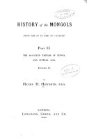 History of the Mongols  from the 9th to the 19th Century PDF