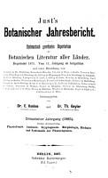 Justs  botanischer jahresbericht PDF