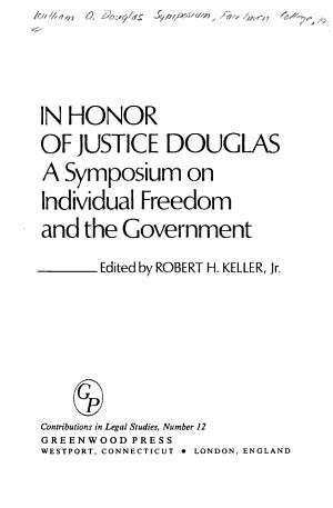 In Honor of Justice Douglas PDF