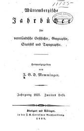 Württembergische Jahrbücher für Statistik und Landeskunde: Teil 2