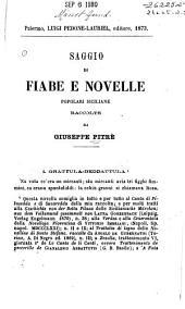 Saggio di fiabe e novelle popolari siciliane