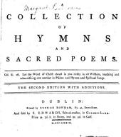 A collection of hymns and sacred poems