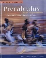 Precalculus with Trigonometry PDF