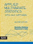 Applied Multivariate Statistics with SAS® Software, Second Edition