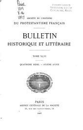 Bulletin historique et littéraire: Volume46
