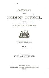 Journal of the Common Council of the City of Philadelphia for the Year ...: Part 2