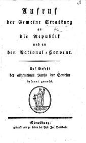 Aufruf der Gemeine S. an die Republik und an den National-Convent. [Aug. 12, 1795.] (Belegschriften, etc.).