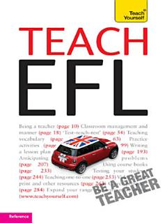 Teach English as a Foreign Language  Teach Yourself  New Edition  Book