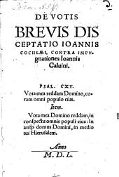 De Votis brevis disceptatio contra Calvinum