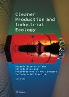Cleaner Production and Industrial Ecology PDF
