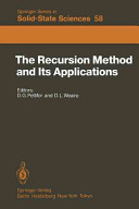Download The Recursion Method and Its Applications Book