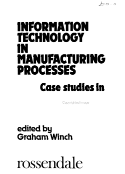 Information Technology in Manufacturing Processes PDF